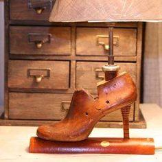 A Vintage 'Wooden Shoe Last' Lamp SALE