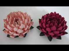 TUTORIAL - Simple and Easy to make Lotus Flower (蓮花) - YouTube