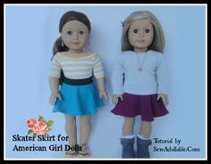 Skater Skirt Tutorial for AG Dolls