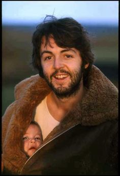Paul McCartney babywearing