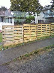 Another option for fencing with pallets.