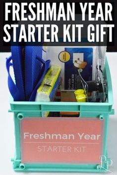 Create this freshman year starter gift kit for your favorite college student!