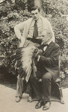 Gary Cooper and his father, 1929