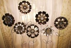 Jello mold metal flowers