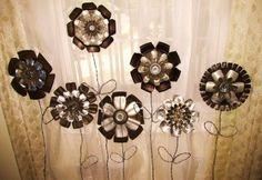 Jello mold metal flowers