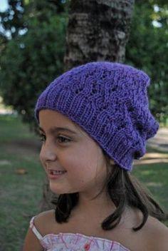 Purple Stitch Project Beanie