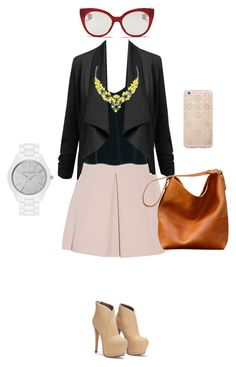 """""""business attire"""" by nianaap ❤ liked on Polyvore featuring Alexander McQueen, MANGO, Miu Miu, Sonix and MICHAEL Michael Kors"""