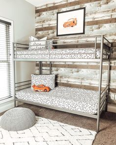 We recently transitioned my toddler's room from a nursery to a big boy room & today I am sharing it with you all! We chose to do a very simple room wi. Boys Car Bedroom, Boy Toddler Bedroom, Toddler Rooms, Boy Room, Disney Bedrooms, Repose Gray, Lightning Mcqueen, Room Tour, Modern Bedroom