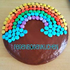 Rainbow birthday cake - so easy to make :)