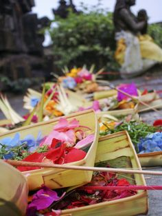 Offerings at MountainTemple, Ubud, Bali