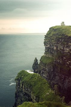 O'Brien's Tower on top of the Cliffs of Moher - Ireland.