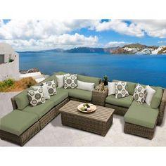 Miseno CAPECOD-10a-CILANTRO Nantucket 10-Piece Outdoor Furniture Set