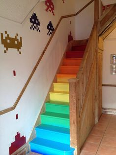 rainbow stair