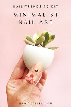 Looking to DIY your own Nail Art from the latest in Nail Trends? Try adding Minimalist Accents to nude colored nails! I will show you how to do this with temporary tattoos!    #NailTrends #NailArt #Style #TemporaryTattoos #Minimalist