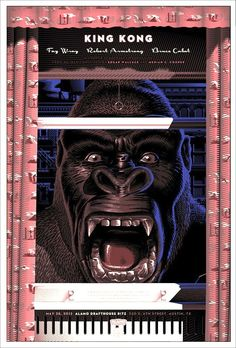 King Kong (1933) revived by Laurent Durieux.
