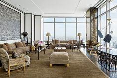 Le salon du nouveau penthouse à Manhattan de Giancarlo Giammetti