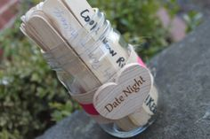Bridal Shower Game, Date Night Idea Sticks, Advice to the new Bride, Date Night Ideas - 10 Sticks only Bridal Games, Wedding Games, Our Wedding, Wedding Planning, Bridesmaid Duties, Always A Bridesmaid, Bridal Shower Party, Wedding Showers, Idee Diy