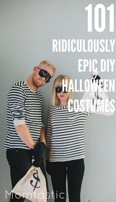 Need a costume idea for Halloween? How about 101 of them! Save a ton of time and money with these funny and clever DIY Halloween costume ideas! You're welcome.