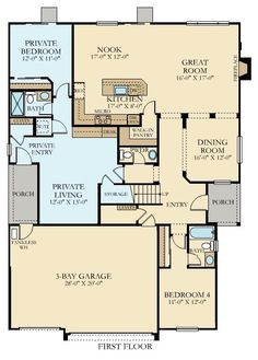 Plan 21765dr full in law suite on main floor income for Income suite house plans