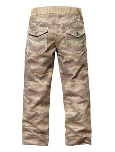 100% Boy's Expert Hard-wearing Trousers CAMOUFLAGE KAKI GRISE+LIGHT BROWN+CHARCOAL