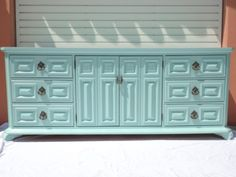 Hollywood Regency 9 Drawer Dresser in Tiffany Box Blue  from House Candy LA (Los Angeles). Total <3