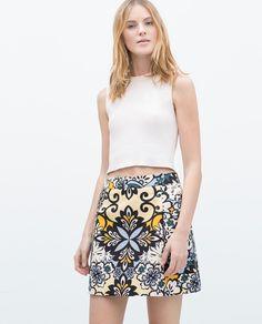 PRINTED MINI SKIRT-View all-Skirts-WOMAN | ZARA United States