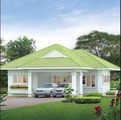 house design home Bungalow Haus Design, Modern Bungalow House, Bungalow House Plans, House Roof Design, Small House Design, Cool House Designs, My House Plans, Modern House Plans, Small House Plans
