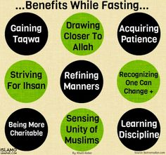 Benefits while fasting.