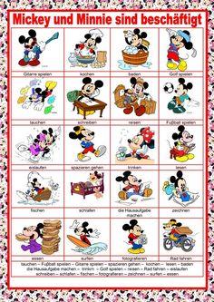Λεξικό Εικόνας - Ο Mikey και ο Minnie είναι πολυάσχολοι