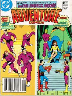 Adventure Comics #493, new Legion cover