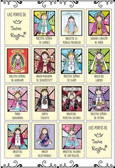 """Virgencitas """" Porfis, cuídame mucho """" .- Fabric Origami, Catholic Kids, Book Markers, Holy Mary, Mexican Art, Mother Mary, Family Day, Blessed Mother, My Images"""