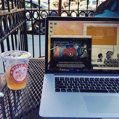 """Work day tour of Boston. Spent the morning on the patio of Wired Puppy on Newbury Street. #Trainyourcloud #mydesktoday"" Photo taken by @smartermediumllc on Instagram, pinned via the InstaPin iOS App! http://www.instapinapp.com (08/13/2015)"