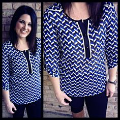 Another fabulous, easy to wear, 'minimal thinking involved to look cute and put together' printed top from Joy Joy! XS-L available! Open today until 6!