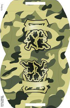 Maleta Kit Militar Camuflado