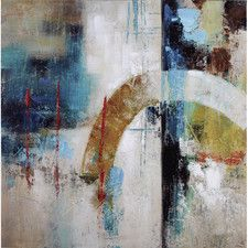 Revealed Artwork Arched Painting Print on Wrapped Canvas