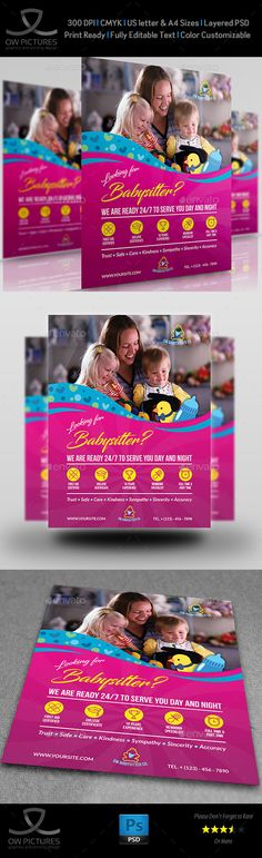 School Education Flyer Schools, Education and Flyers - babysitting flyer template
