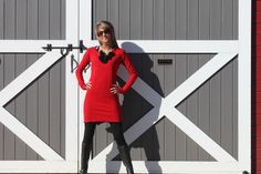 Long Sweatshirt Hoodie Tunic Dress to wear with leggings. The Pixie.  $69.99