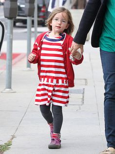 Jen Spends the Day With Seraphina While Ben Steps Out Solo: Jennifer Garner and Seraphina Affleck held hands in LA on Monday.