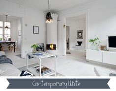 No-one does white like the Scandinavians .... especially the Norwegians ~ LOVE everything in this house  <3