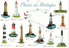Lighthouses of the Bretagne Vintage Images, Vintage Posters, Lighthouse Pictures, Show Me The Way, Beacon Of Light, Light Of The World, In Case Of Emergency, Water Tower, Brittany