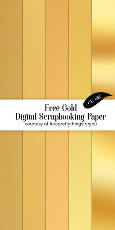 Free Gold Digital Scrapbooking Paper-CU-OK! - Free Pretty Things For You
