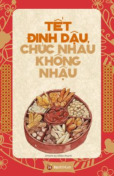 Cute Tet wishes :> in Tet holiday for safety . Lunar Festival, Spring Festival, Vintage Cafe, Vintage Fonts, New Year Illustration, New Years Decorations, Retro Ads, Vietnamese Recipes, Festival Posters