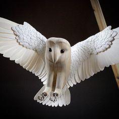 Instagram media by paperandwood_ - Original prototype of mini barn owl…