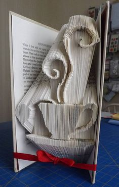 Folded Book Art by Cindys Paper Designs on Etsy
