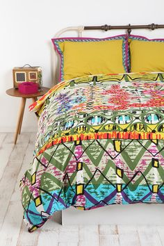 for a colorful spare bedroom that breeds creativity: Garden Stripe Duvet Cover from @Urban Outfitters