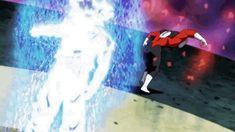 Ultra Instinct Goku VS Jiren gifset from Dragon Ball Super episode 129/130