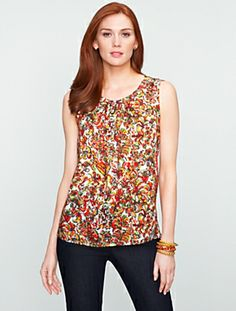 Talbots - Watercolor Floral Top | Blouses and Shirts | Misses