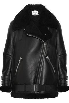 Acne Studios Velocite Shearling-trimmed Leather Biker Jacket $2700, available here: http://rstyle.me/~aapoH