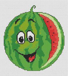 Watermelon free cross stitch pattern
