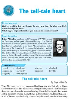 writing styles in the tell tale Discover edgar allan poe literary style and themes, legacy, poe in popular culture 2014 - el corazn delator/the tell-tale heart edicin bilinge.